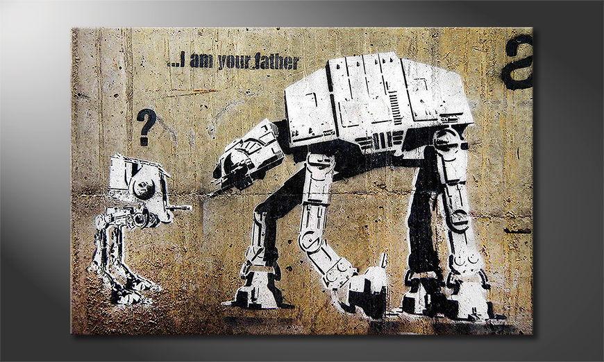 Het foto canvas Banksy No9