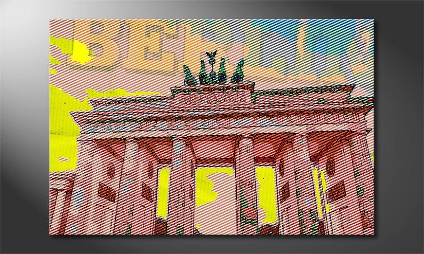 Het foto canvas Berlijn