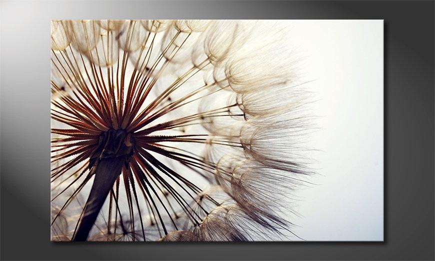 Het foto canvas Big Dandelion