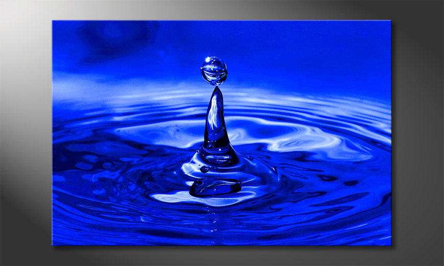 Het foto canvas Blue Drop