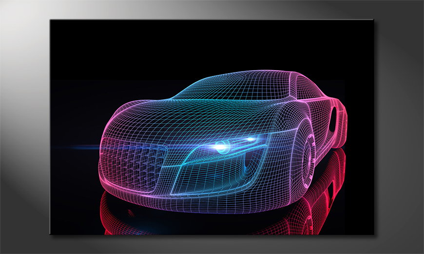 Het foto canvas Car from Future
