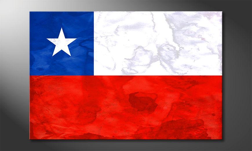 Het foto canvas Chile