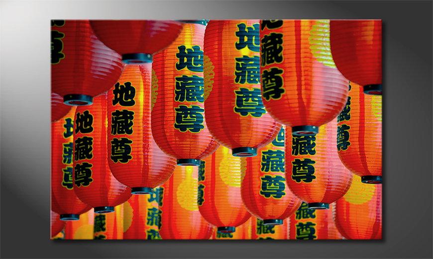 Het foto canvas Chinatown