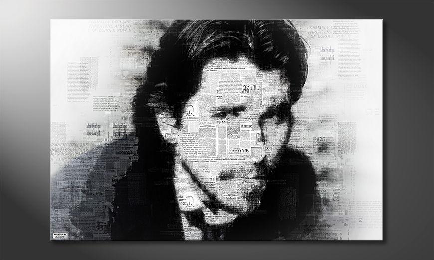 Het foto canvas Christian