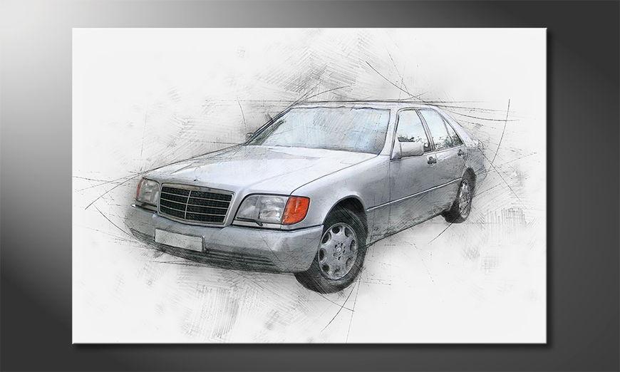 Het foto canvas Classic S
