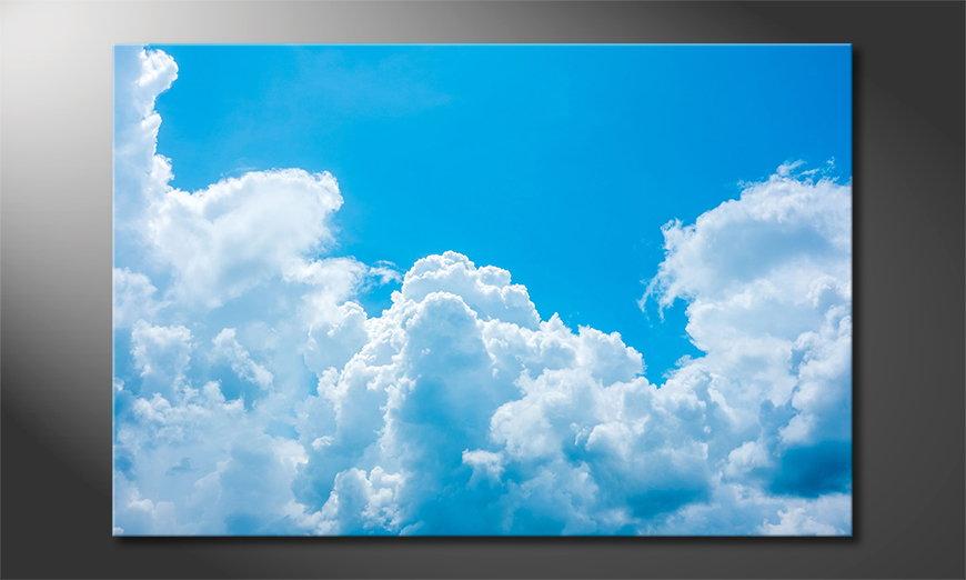 Het foto canvas Clouds