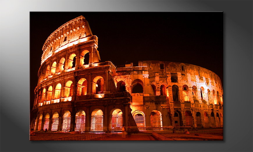 Het foto canvas Colosseum