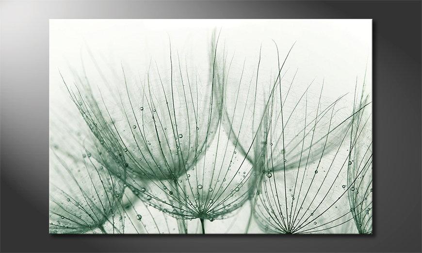 Het foto canvas Dandelion Detail