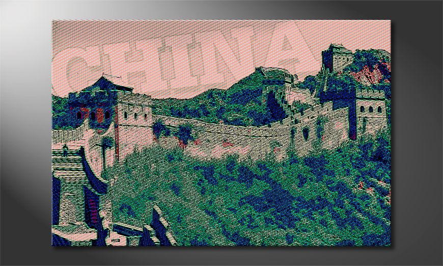Het foto canvas De Chinese Muur
