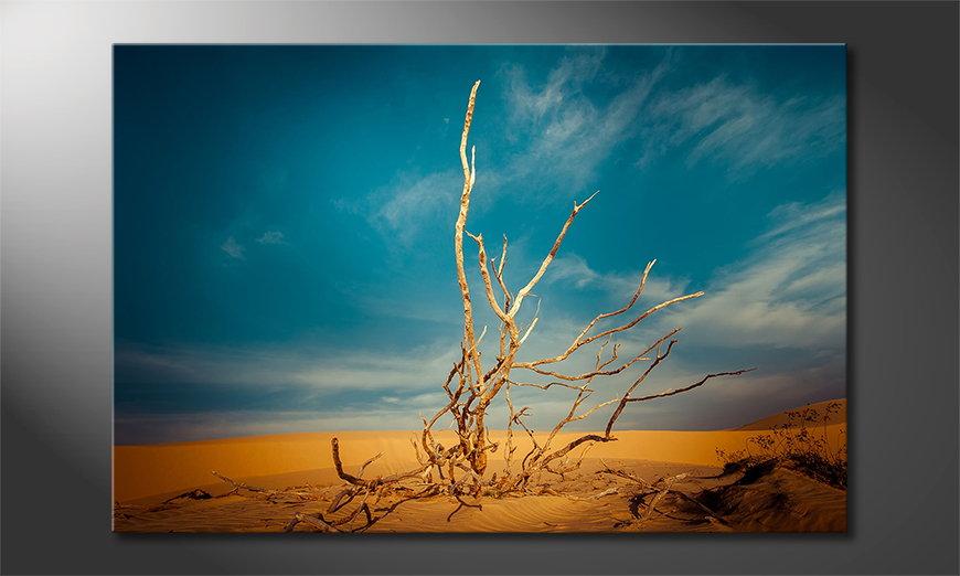 Het foto canvas Desert Landscape