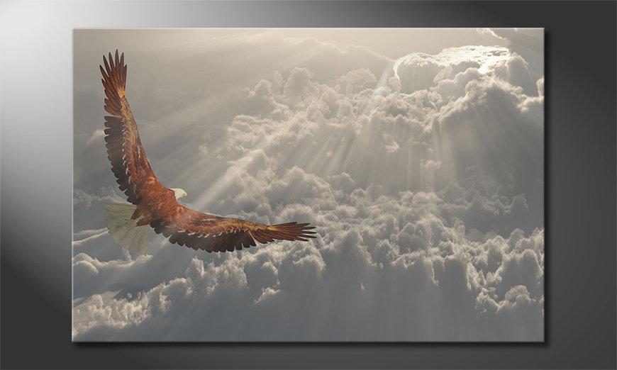 Het foto canvas Eagle Flight