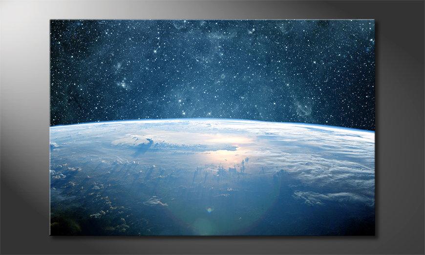 Het foto canvas Earth Planet I