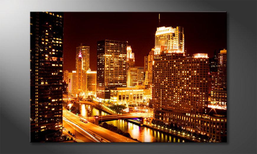 Het foto canvas East River