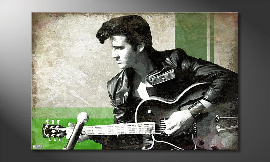 Het foto canvas Elvis