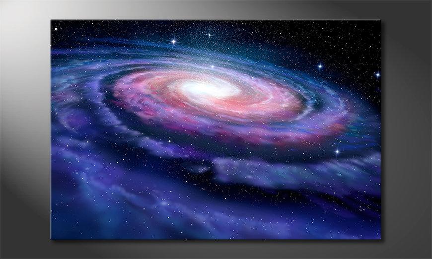 Het foto canvas Far Galaxy