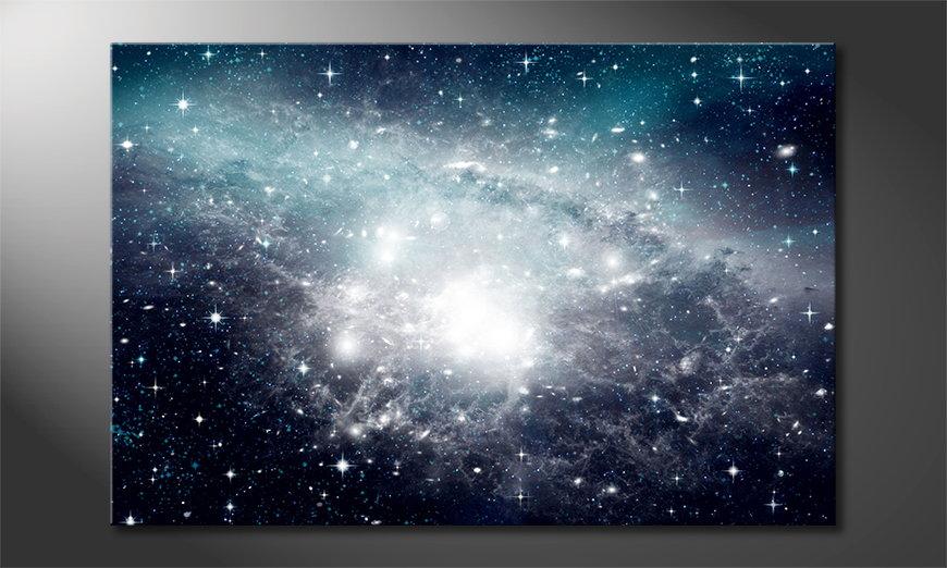 Het foto canvas Galaxy