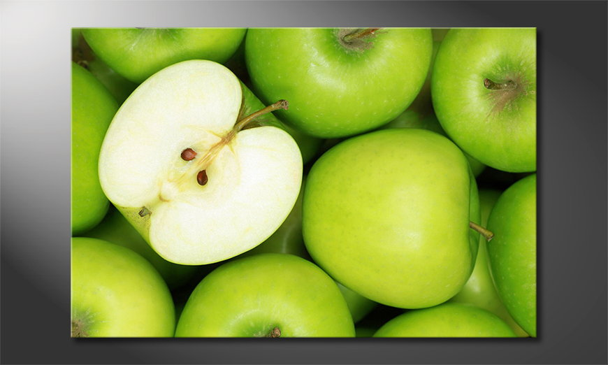 Het foto canvas Green Apples