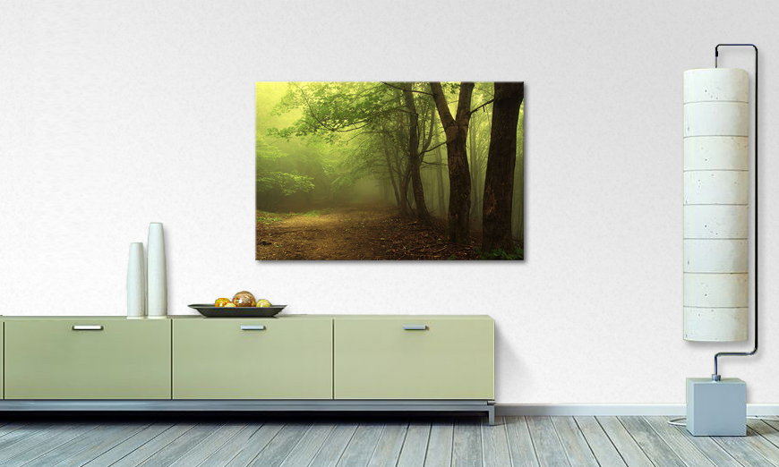 Het foto canvas Green Forest
