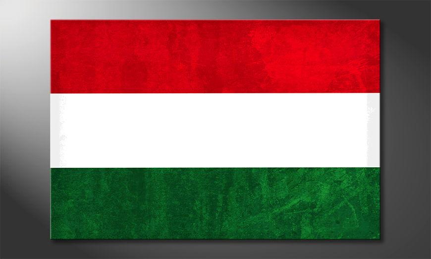 Het foto canvas Hongarije