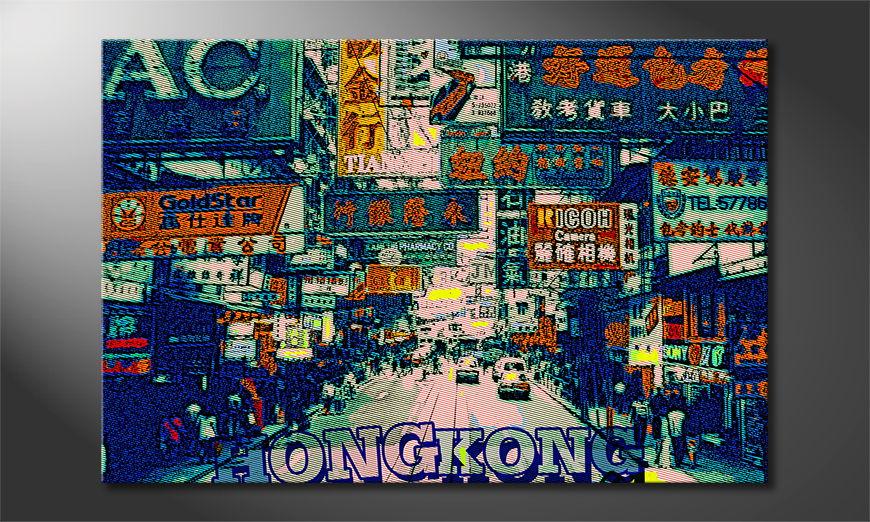 Het foto canvas Hongkong