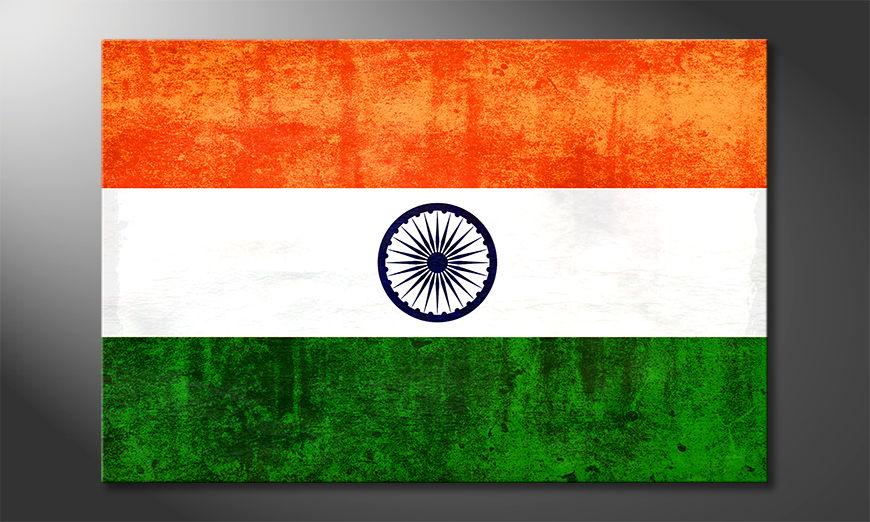 Het foto canvas Indië