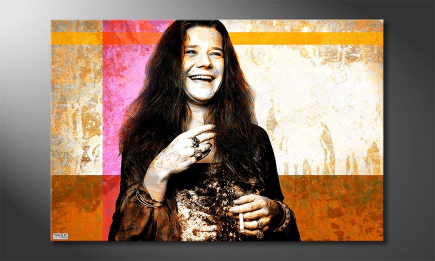 Het foto canvas Janis