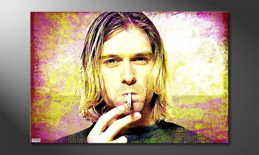 Het foto canvas Kurt