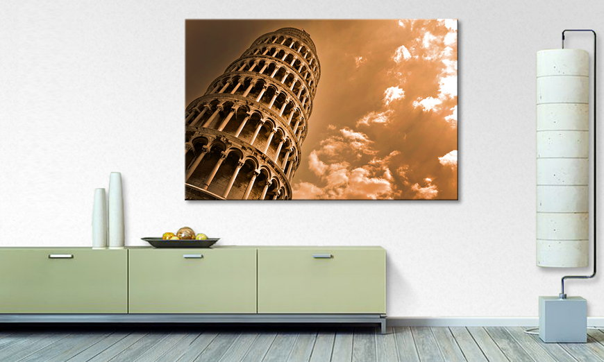 Het foto canvas Leaning Tower