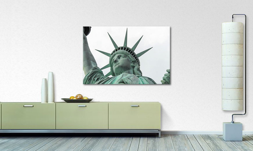 Het foto canvas Liberty
