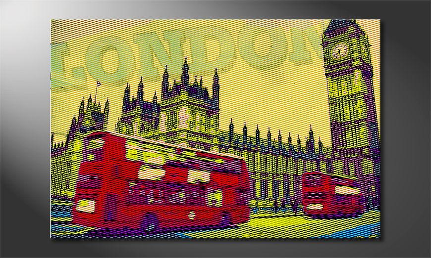 Het foto canvas Londen