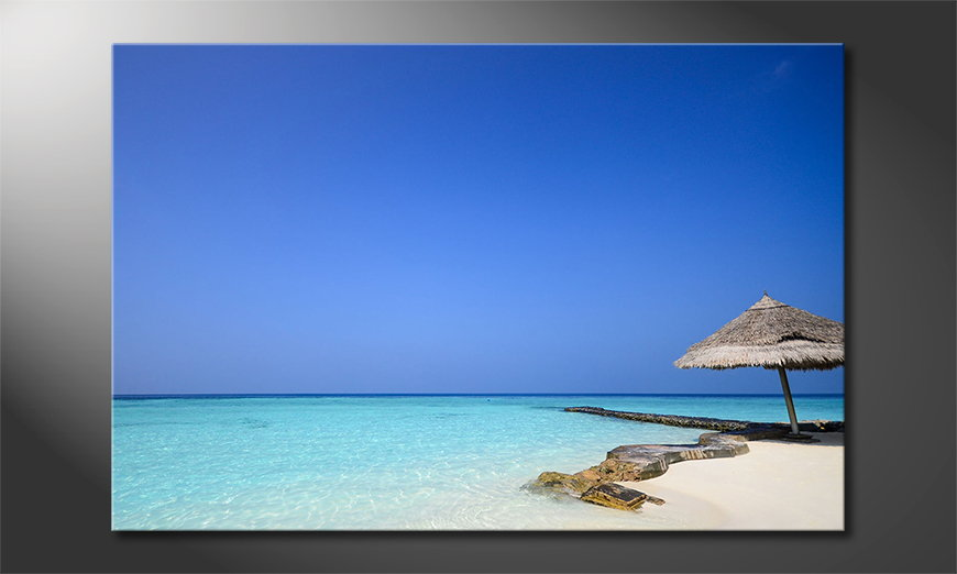 Het foto canvas Maledives Beach