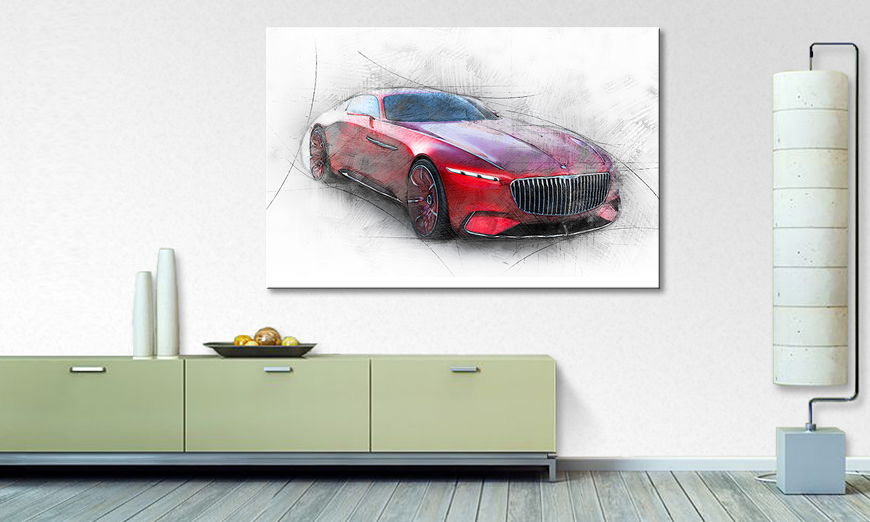 Het foto canvas Maybach Study