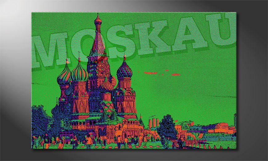 Het foto canvas Moskou