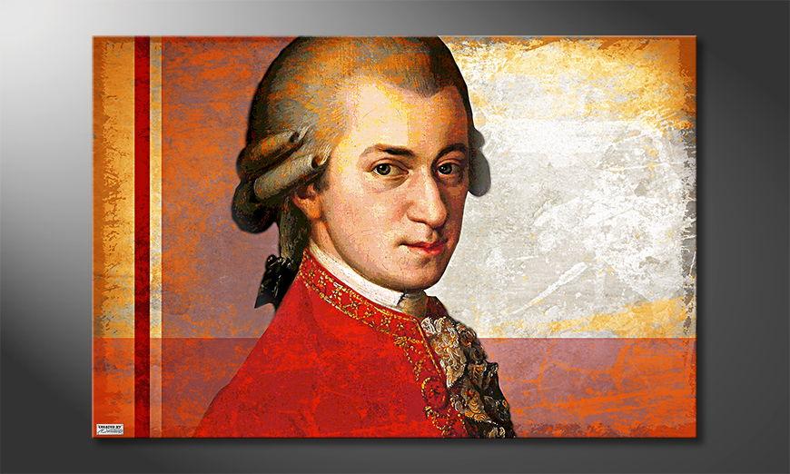 Het foto canvas Mozart