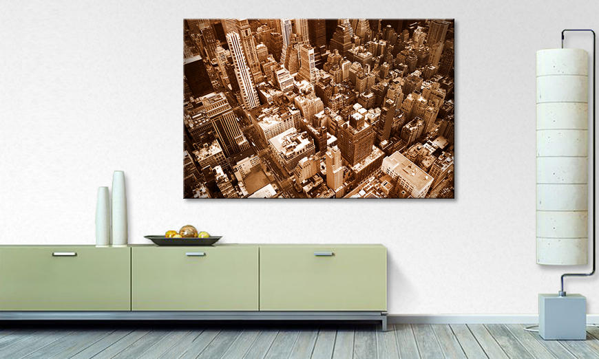 Het foto canvas New York City
