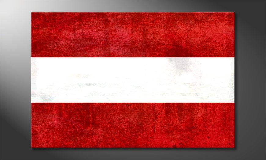 Het foto canvas Oostenrijk