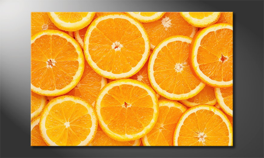 Het foto canvas Oranges