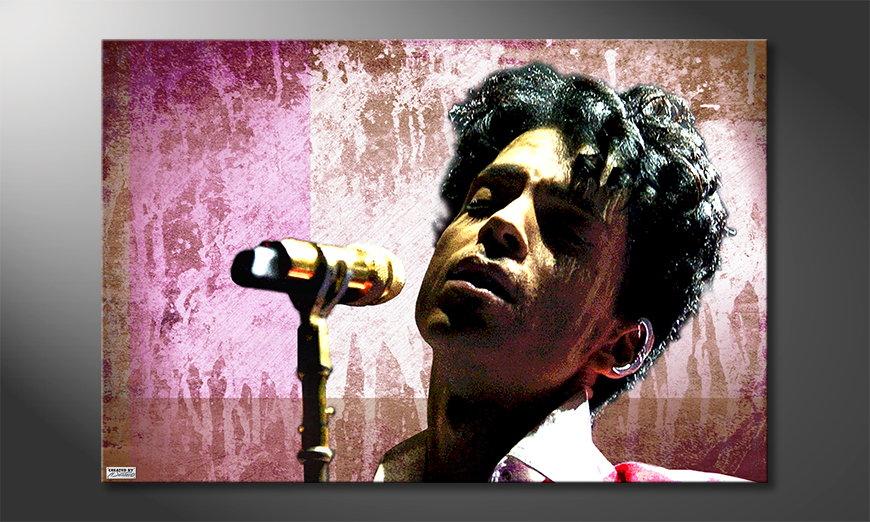 Het foto canvas Prince
