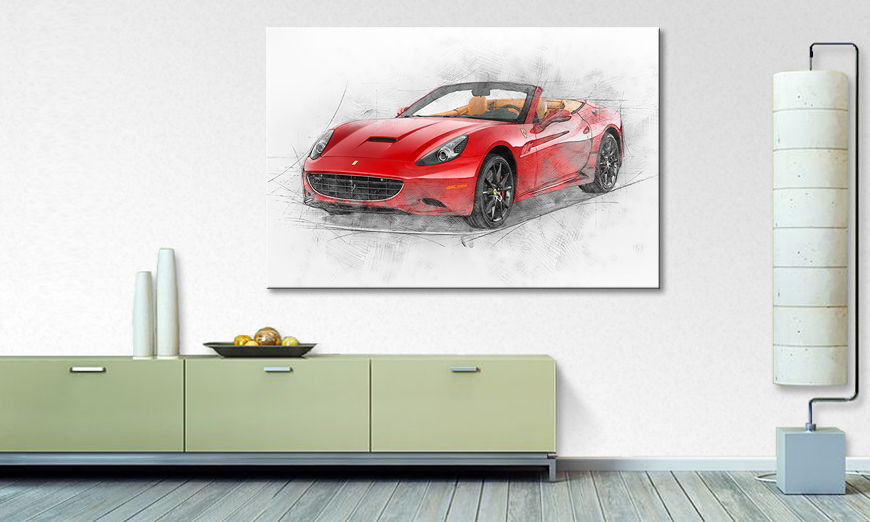 Het foto canvas Pure Power