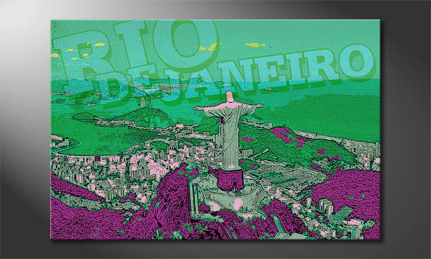 Het foto canvas Rio