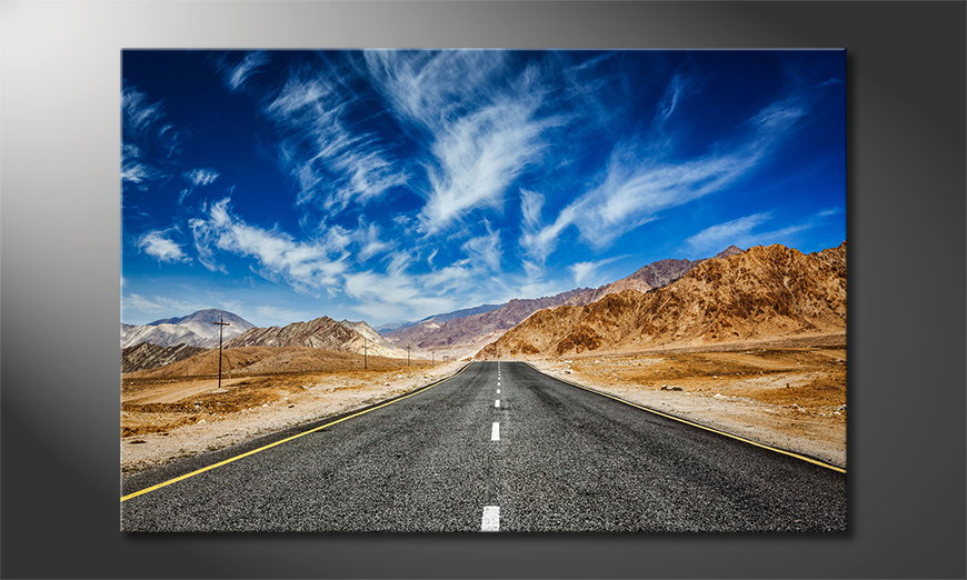Het-foto-canvas-Road-to-Nowhere