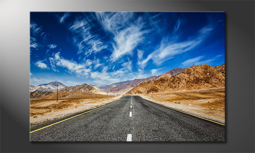 Het foto canvas Road to Nowhere