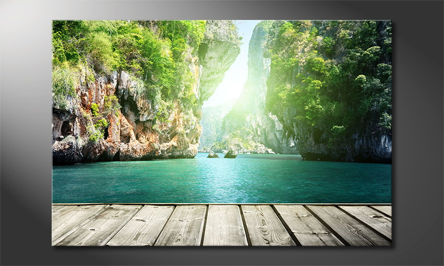 Het foto canvas Rocks on Railay