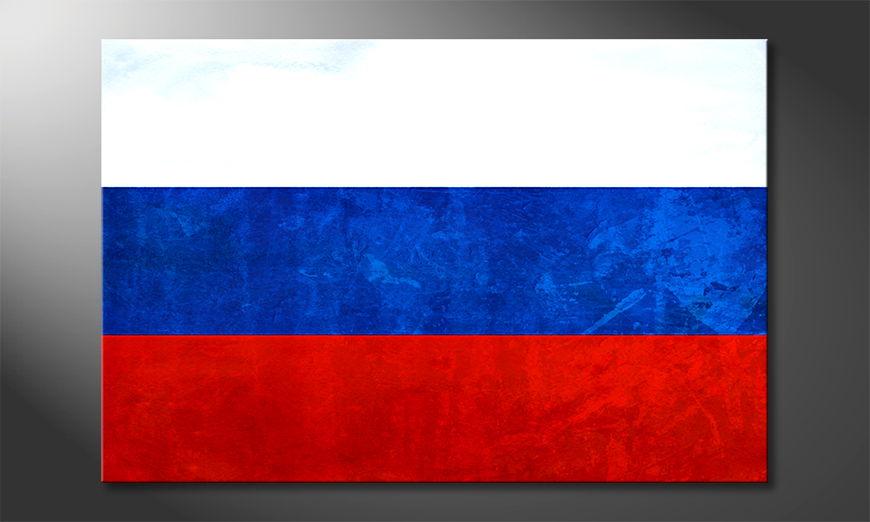 Het foto canvas Rusland
