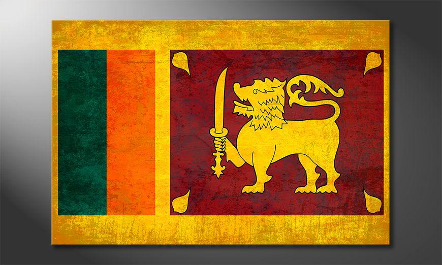 Het foto canvas Sri Lanka