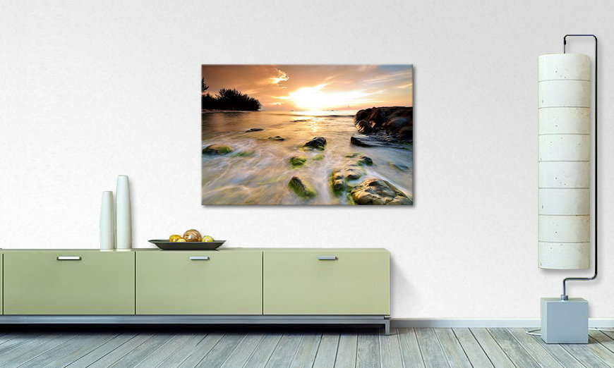 Het foto canvas Stoned Sunset
