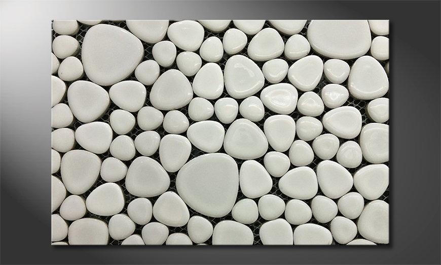 Het foto canvas Stones Mosaic