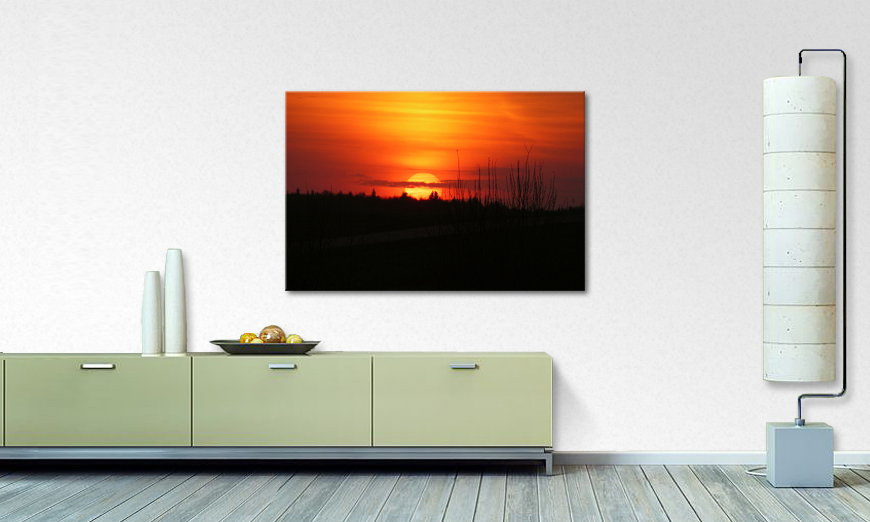 Het foto canvas Sunset Sky