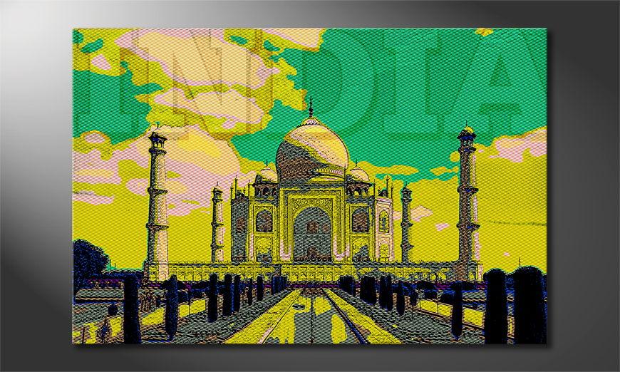 Het foto canvas Taj Mahal