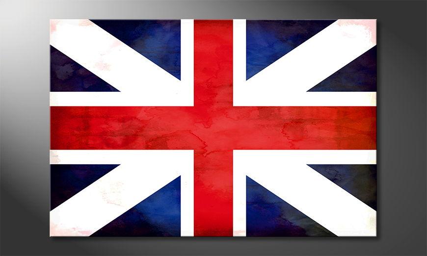 Het foto canvas Union Jack